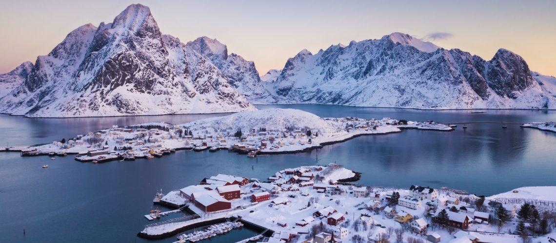 Reine Village on the Lofoten Islands in Winter season, Norway